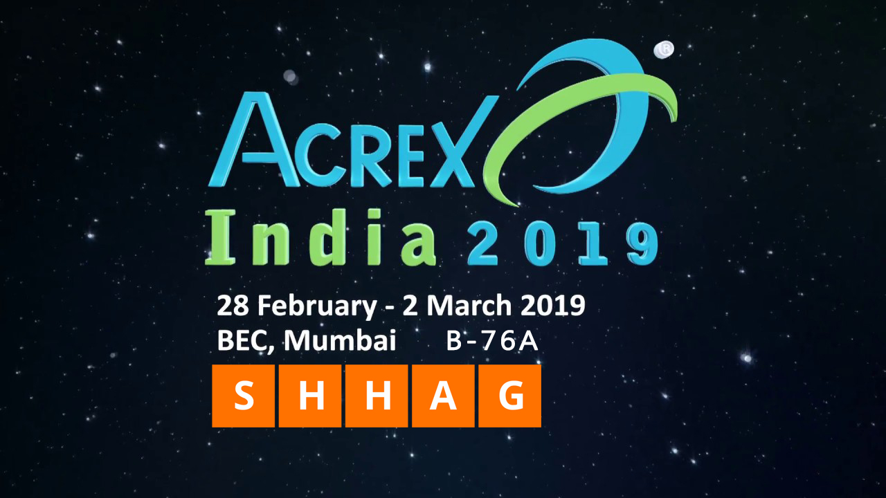 SHHAG will attend Acrex India 2019 Exhibition