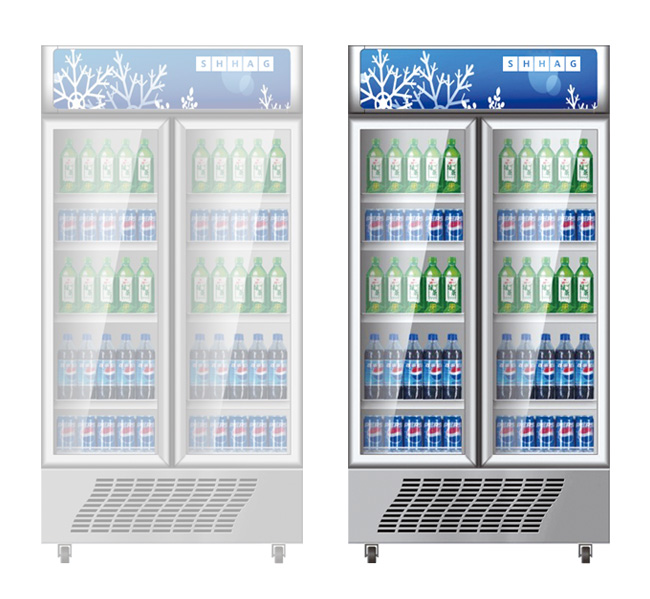 Beverage Cooler Glass Door