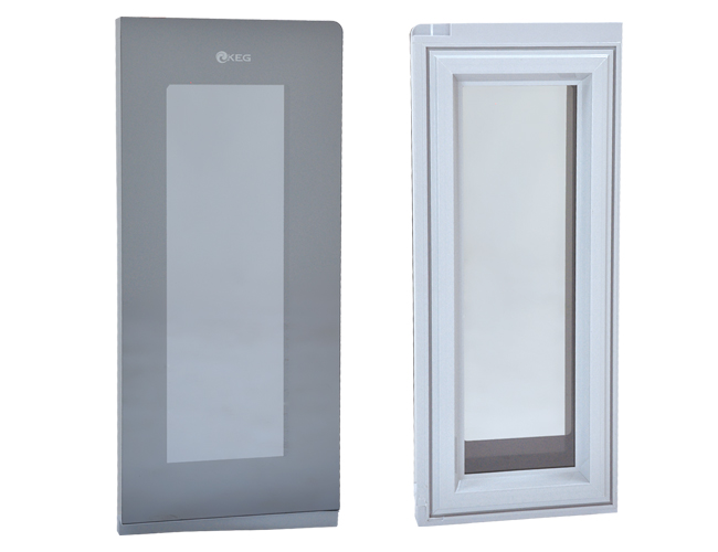 Foaming Lighted Freezer Glass Door